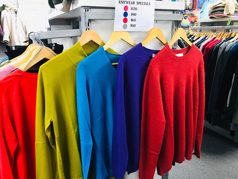 Hanmer Adventure Centre Shop - wide range of knitwear